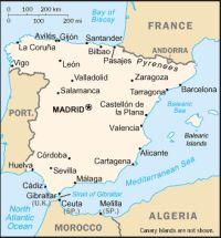 Карта географическая карта испании