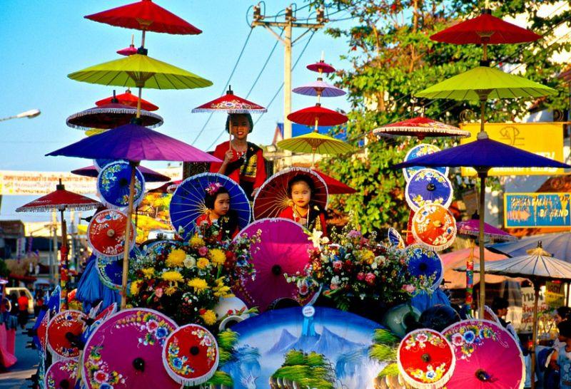 Фестиваль зонтиков пройдет в Таиланде