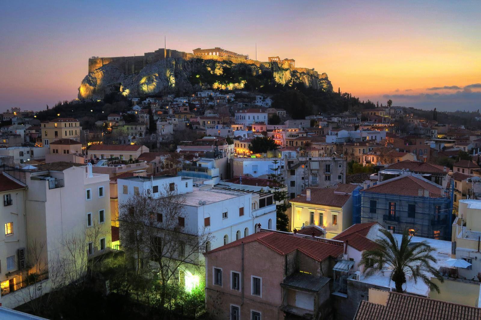 афины фото города погода обоев морские