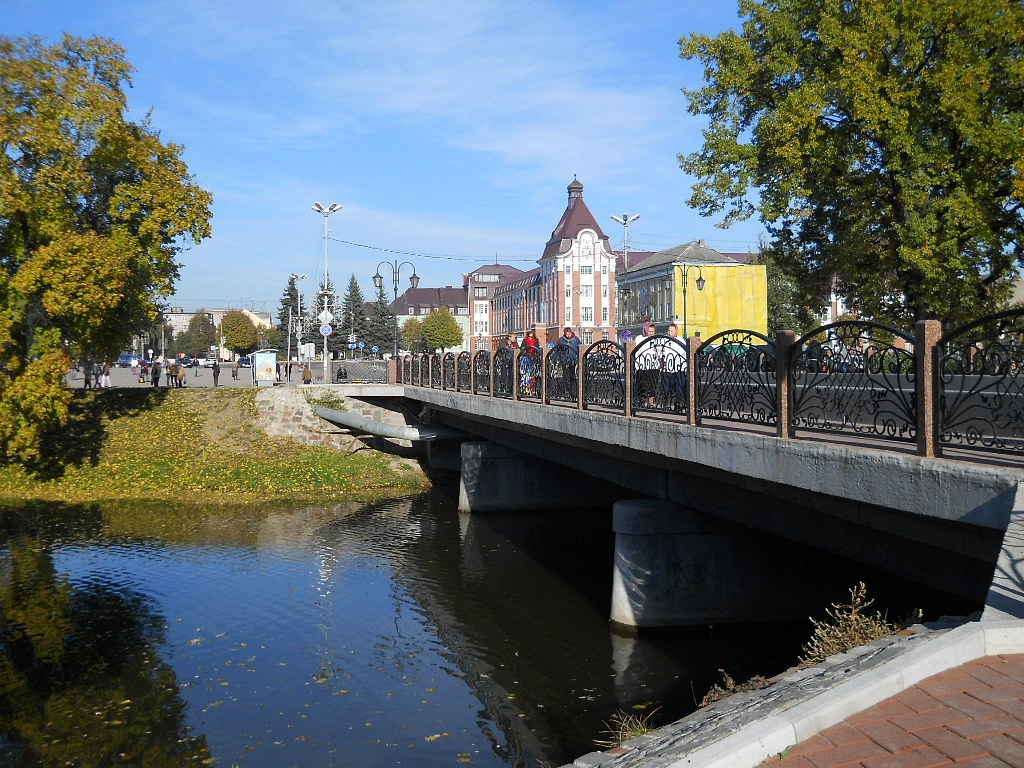 Фото нового моста в гусеве