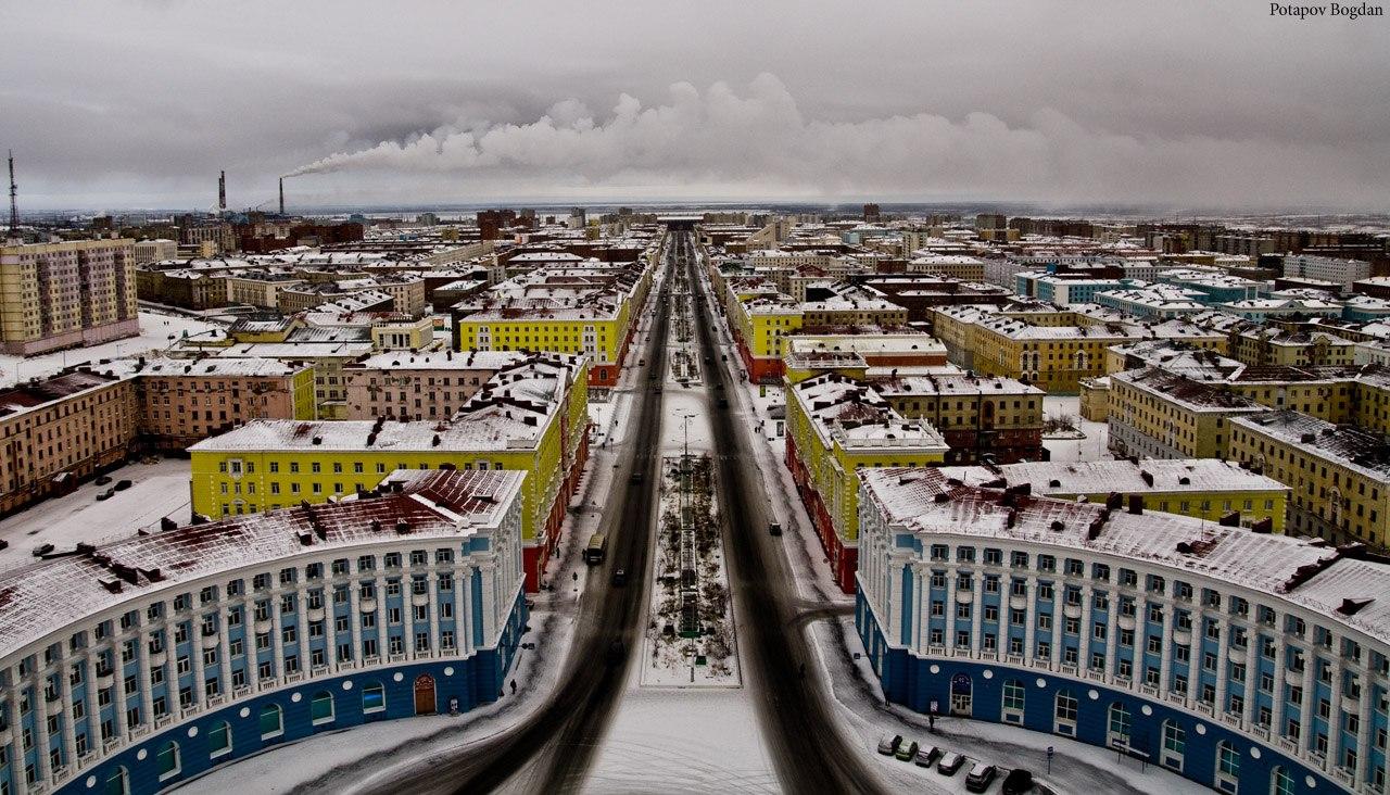 Норильск город фото на карте
