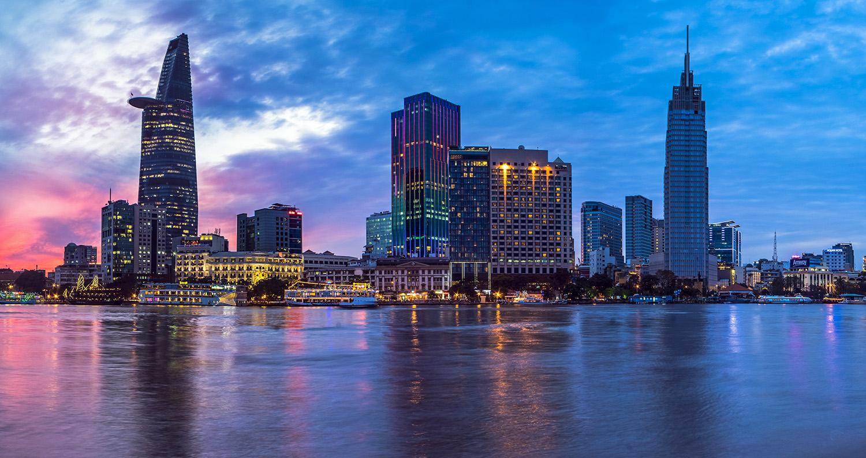 Хошимин Вьетнам ночь огни загрузить